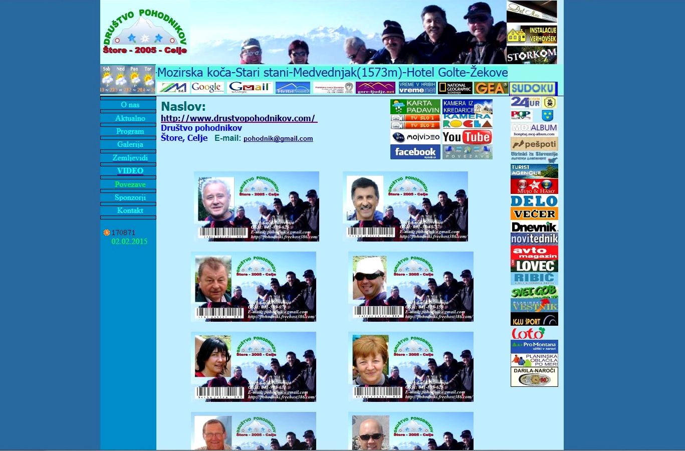 Društvo pohodnikov - stara stran