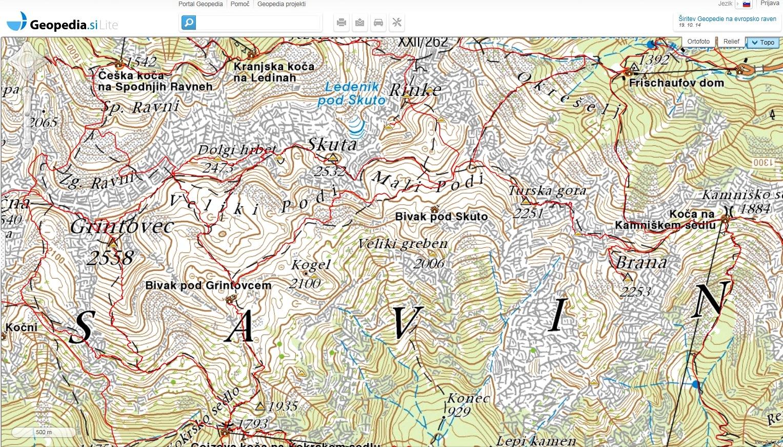 Geopedia zemljevidi